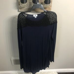 Tops - Blue and black lace tunic